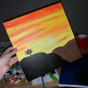 Sunset $ Hills Painting